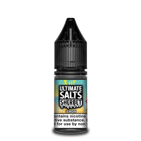 Ultimate Salts Sherbet – Lemon. Sweet zesty lemon infused with sherbet makes one of the most delicious vape flavours out there.