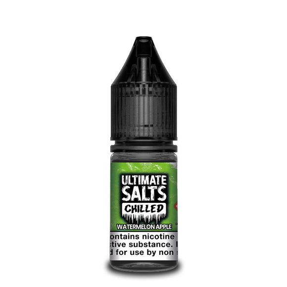 Ultimate Salts Chilled – Watermelon Apple. Frozen watermelon blended with sweet apple. A super refreshing vape.
