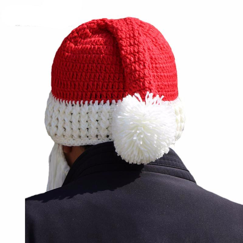 Knitted Santa Beard And Hat Hey Trending