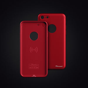 MarvelCase Air - Qi Wireless Charging Case for iPhone 7 - Maroon Red