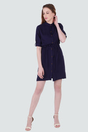 PAMILANO Long Sleeve Dress - Dark blue - PAMILANO