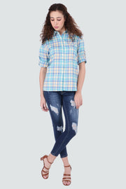 PAMILANO Tall Check Shirt - Blue - PAMILANO