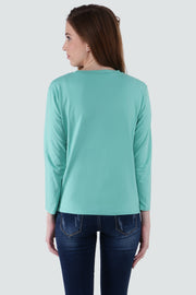 PAMILANO Long Sleeves City Print T-shirt - Green - PAMILANO