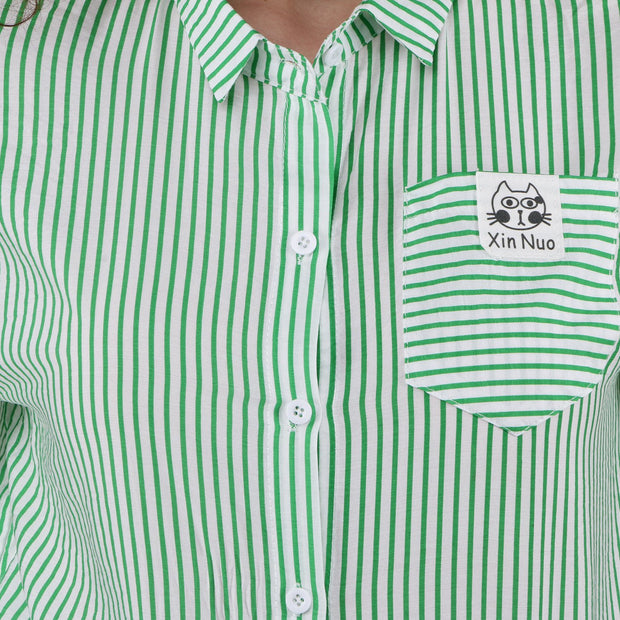 PAMILANO Cat Shirt - Green - PAMILANO
