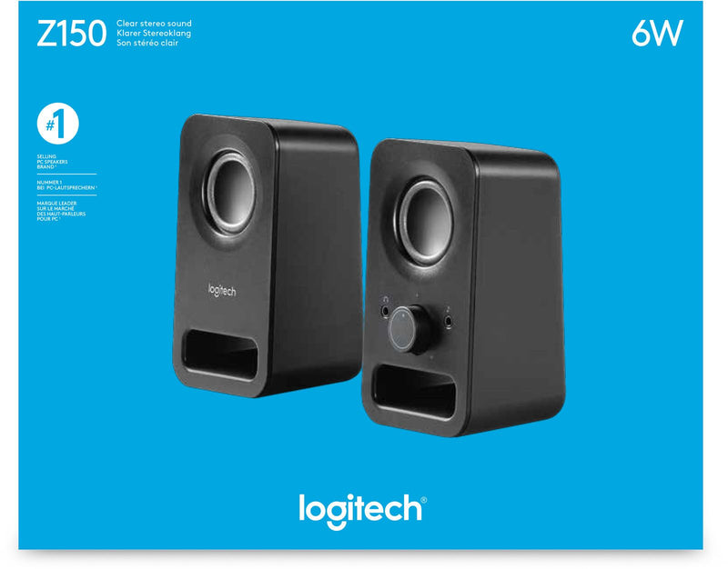 Logitech Z150 Stereo Speakers (Black)- 980-000814 - Innovative Computers Limited