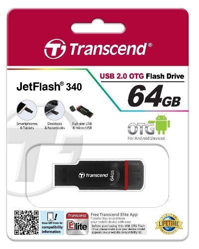 Transcend JetFlash 340 64GB OTG - Innovative Computers Limited