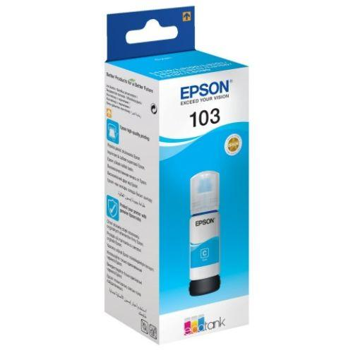Genuine Epson 103 EcoTank Cyan Ink Bottle 65 ml - Innovative Computers Limited
