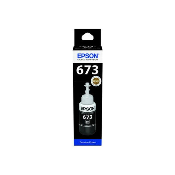 Genuine Epson C13T6731A  Black Ink Bottle 70ml. - Innovative Computers Limited