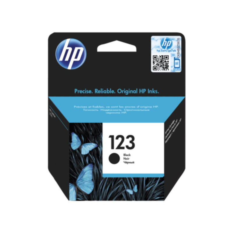 Genuine Black HP 123 Ink Cartridge (F6V17AE) - Innovative Computers Limited