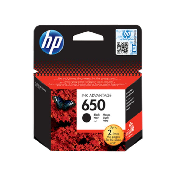 Genuine Black HP 650 Ink Advantage  Cartridge (CZ101AE) - Innovative Computers Limited