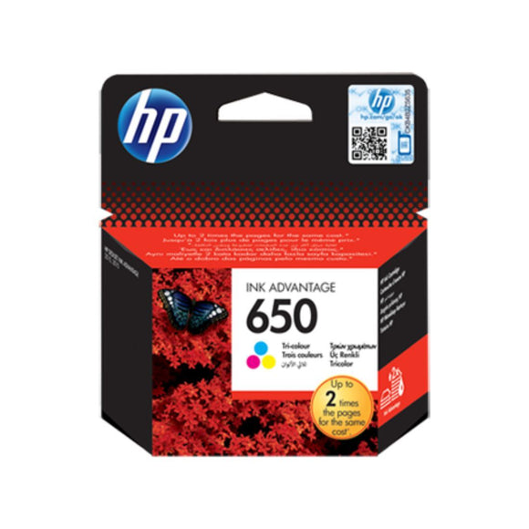 HP 650 Tri-color Original Ink Advantage Cartridge - Innovative Computers Limited