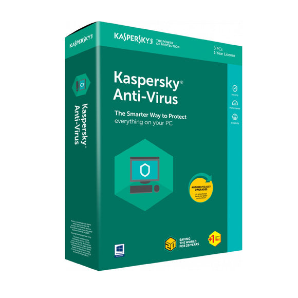Kaspersky Anti-Virus  3+1 user 2018 - Innovative Computers Limited