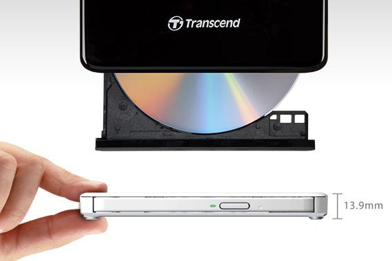 Transcend Slim Portable DVD Writer 8X ,USB, black - Innovative Computers Limited