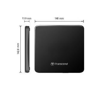 Transcend Slim Portable DVD Writer 8X ,USB, black - Buy online at best prices in Kenya