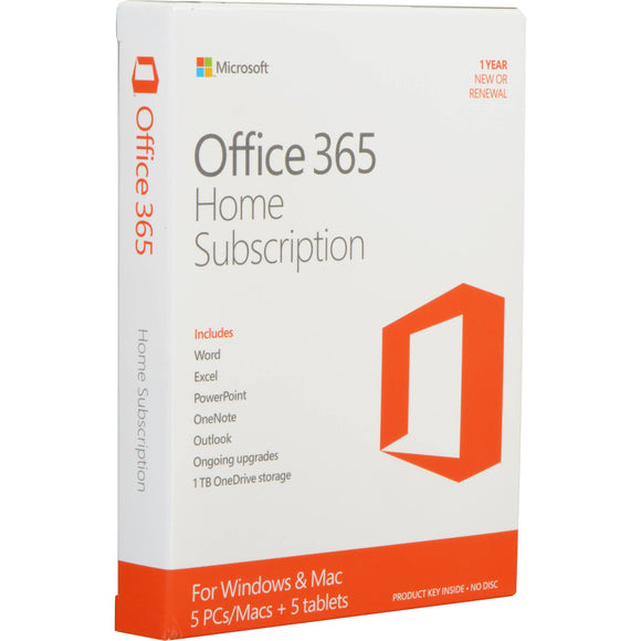 Office 365 Home 32/64bit 1 year subscription Medialess - 5 users - Innovative Computers Limited