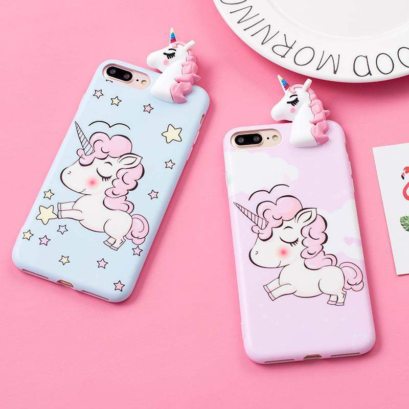 3D Unicorn iPhone Case-SpringNoir