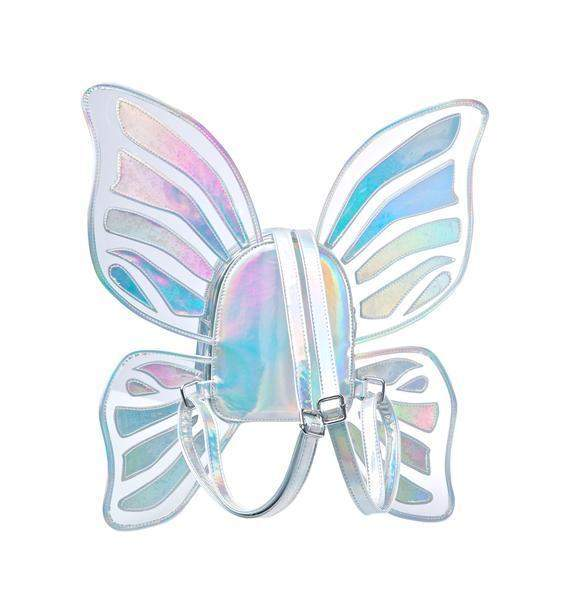 Butterfly Wings Holographic Backpack-SpringNoir