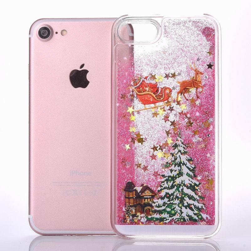 Christmas Glitter Liquid Phone Case-SpringNoir