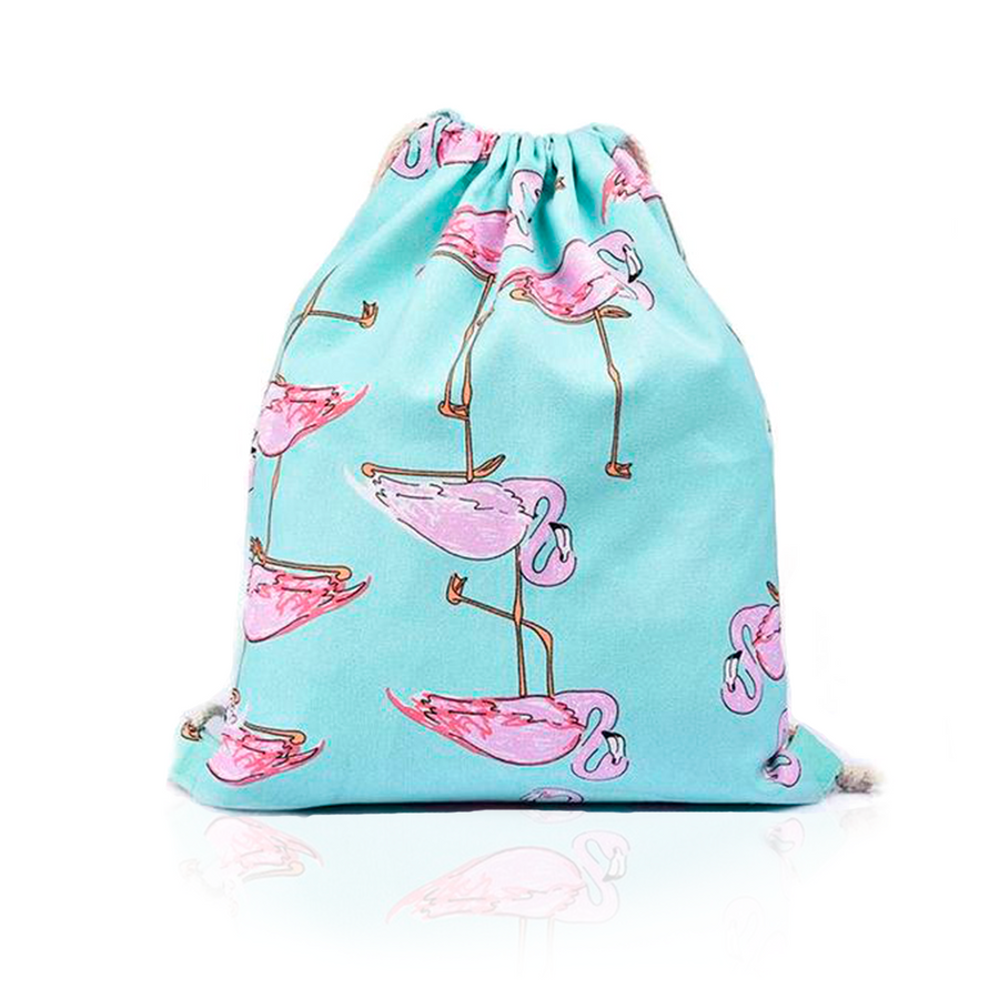 Flamingos Cotton Backpack-SpringNoir