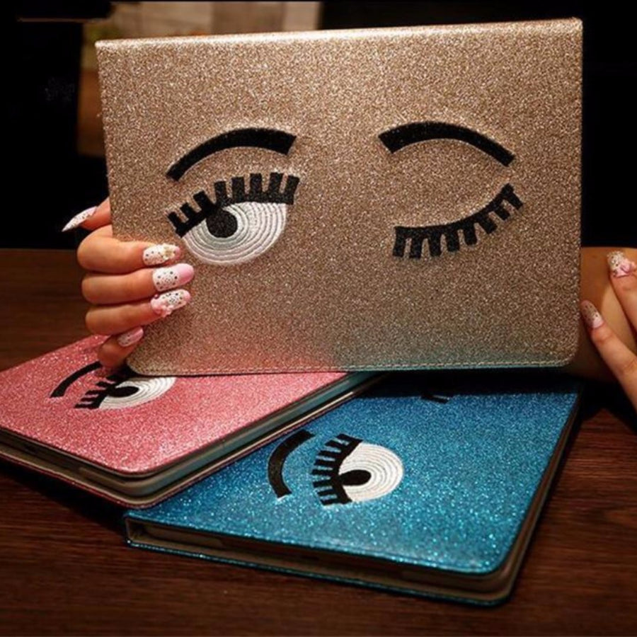 Glitter Eyelashes iPad Mini 1/2/3 Case-SpringNoir