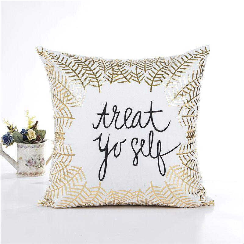 Gold Detail Cushion Cover-SpringNoir