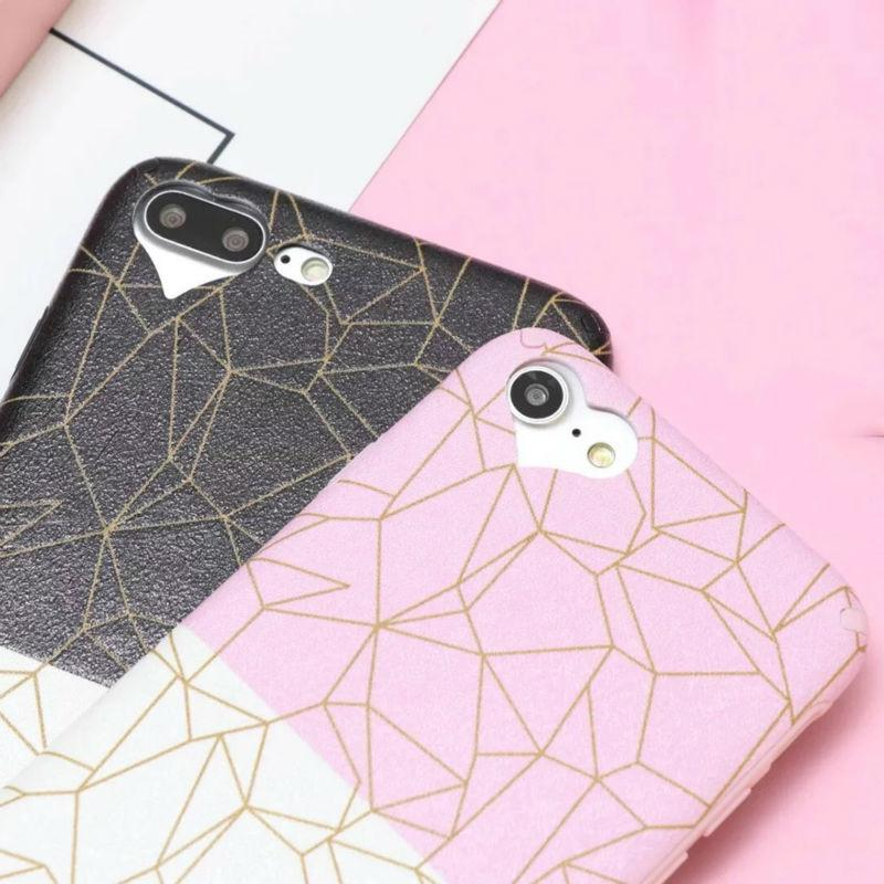 Gold Geometric Cube Phone Case-SpringNoir