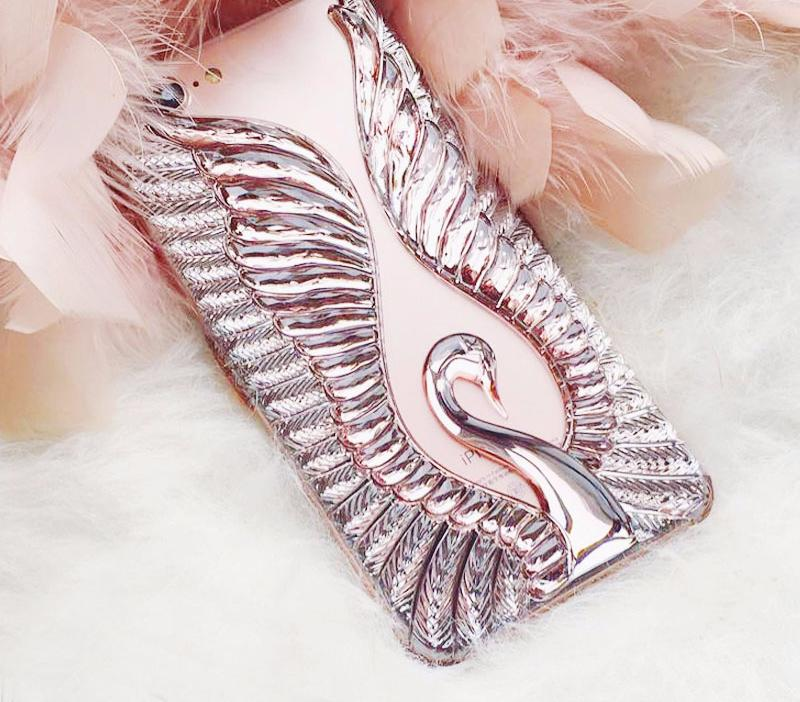 Metallic Swan Phone Case-SpringNoir