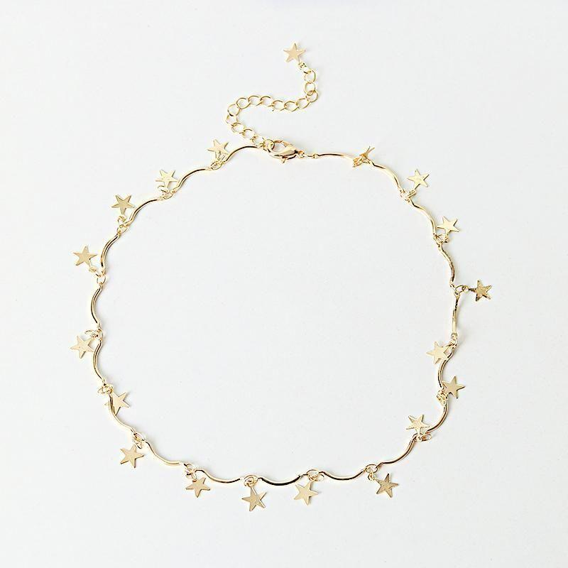 Stars Choker Necklace-SpringNoir