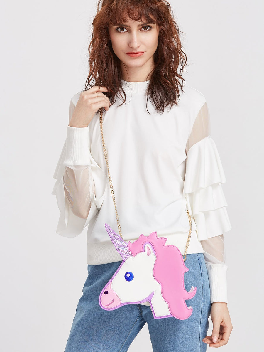 Unicorn Head Bag-SpringNoir