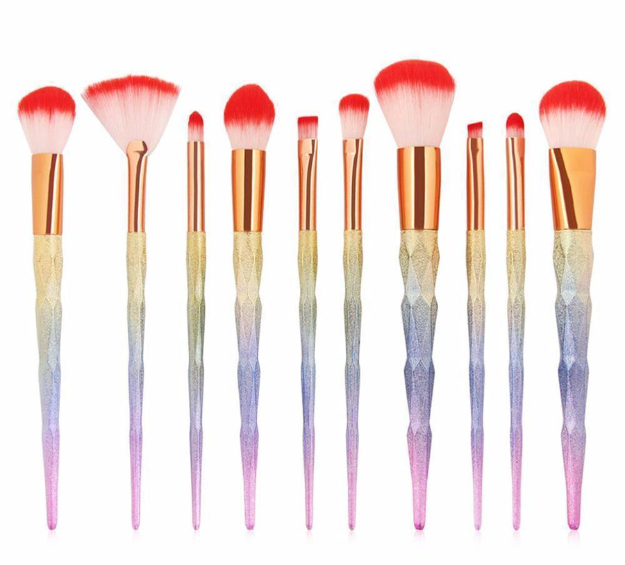 Unicorn Horn Makeup Brushes-SpringNoir