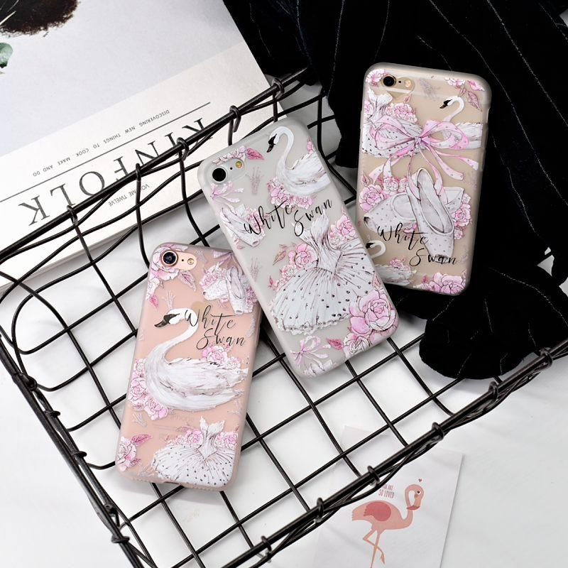 White Swans Phone Case-SpringNoir
