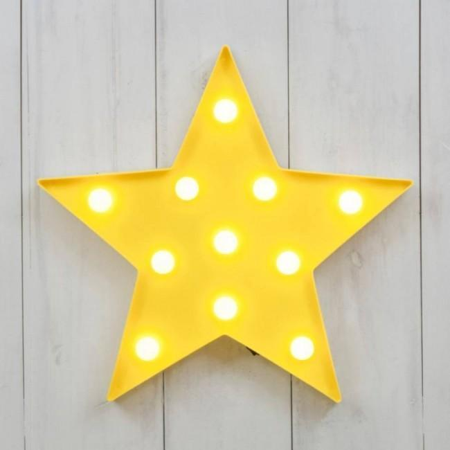 Yellow Star LED Lamp-SpringNoir