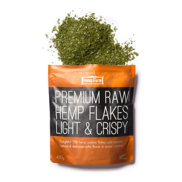 Premium Raw Hemp Flakes (Spray Free) – 450g