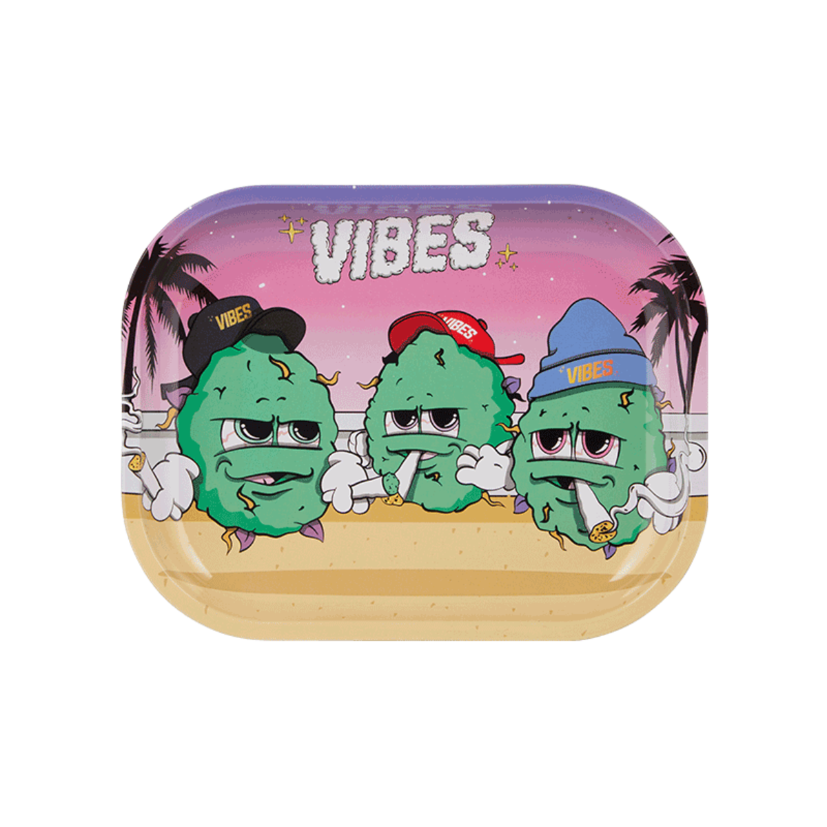 Vibes Buds For Life Metal Rolling Tray