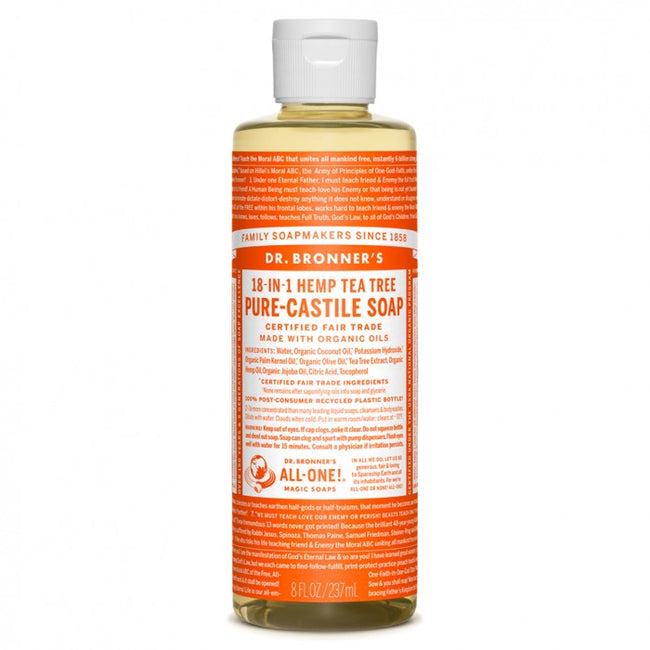 Hemp Liquid Soap (Tea Tree) Dr Bronner's Organic - 8oz (237cl)