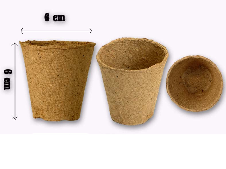 FertilPots (6 x 6cm) organic + biodegradable pots