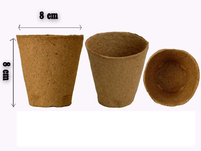FertilPots (8 x 8cm) organic + biodegradable pots