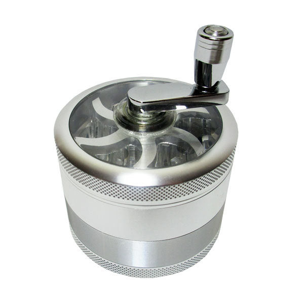 SharpStone® Grinder W/ Crank Handle (60mm 4pce Silver)