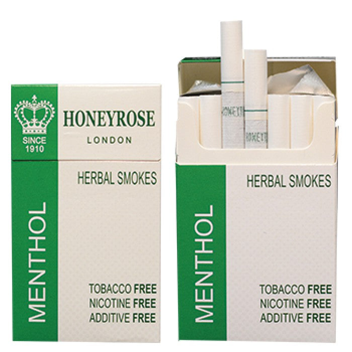 Honeyrose MENTHOL Herbal Cigarettes