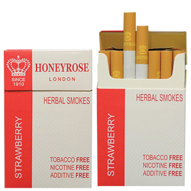 Honeyrose STRAWBERRY Herbal Cigarettes