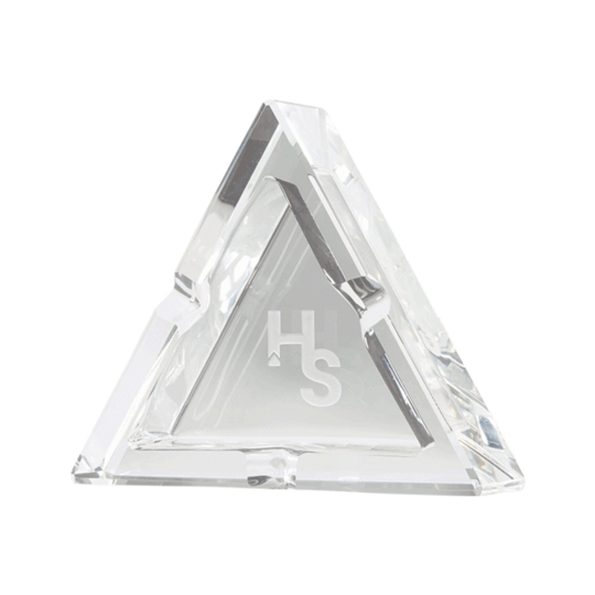 Higher Standards Crystal Ashtray