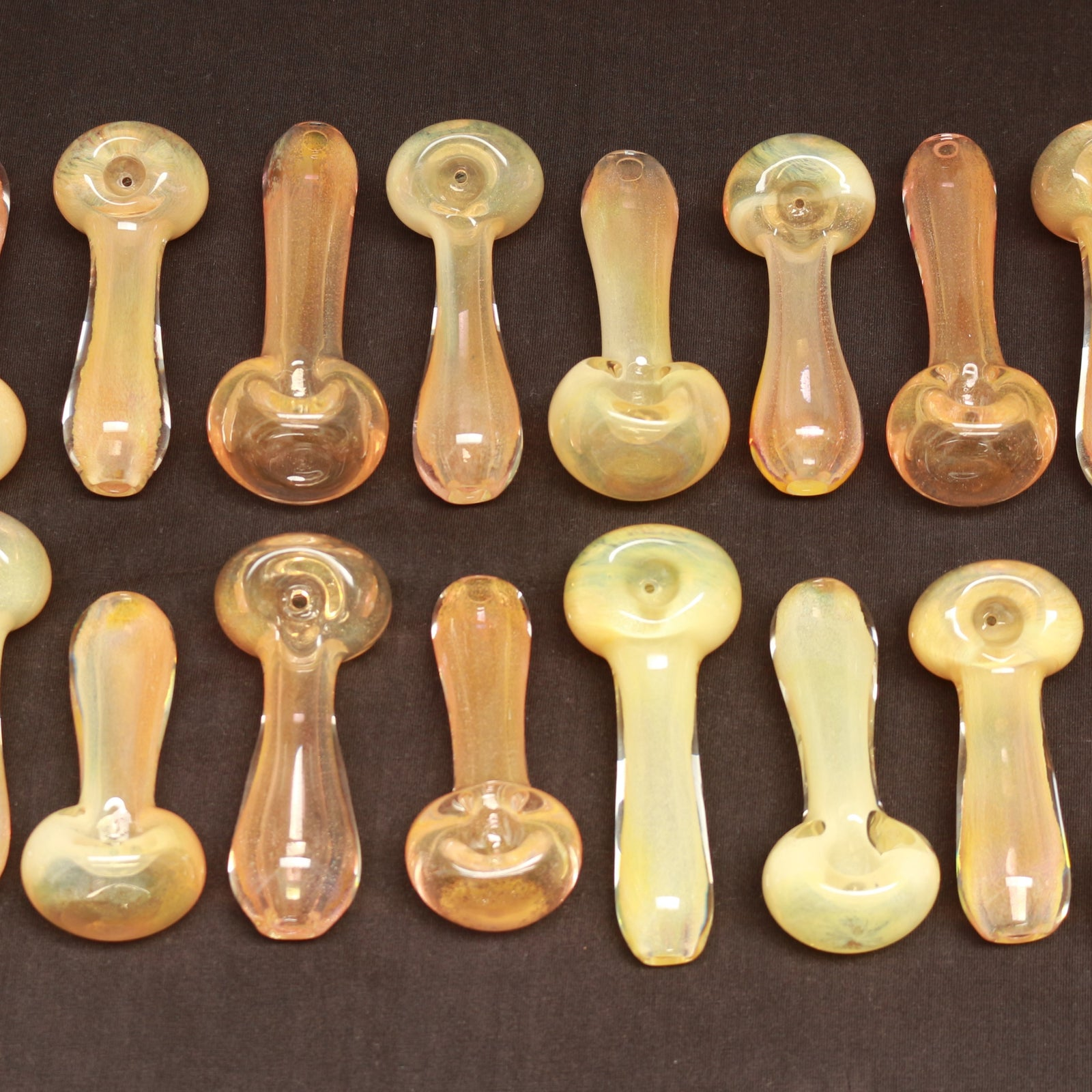 Glass Spoons - Inside fumed with clear frit