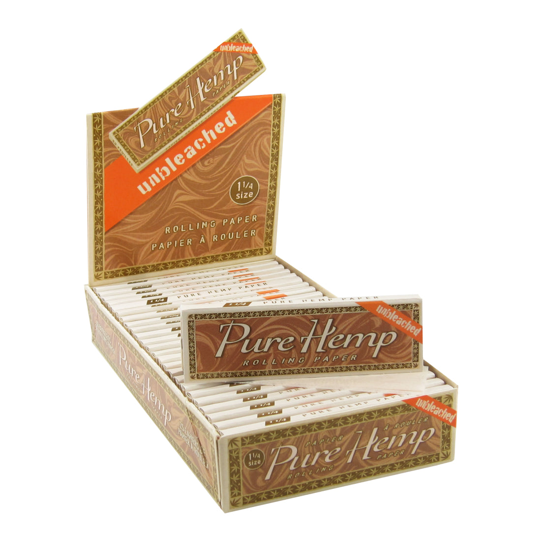 Pure Hemp Unbleached 1 1/4 Size Rolling Papers