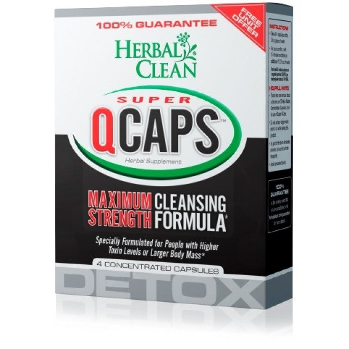 Herbal Clean SUPER QCAPS (4 X Quick Detox Capsules)