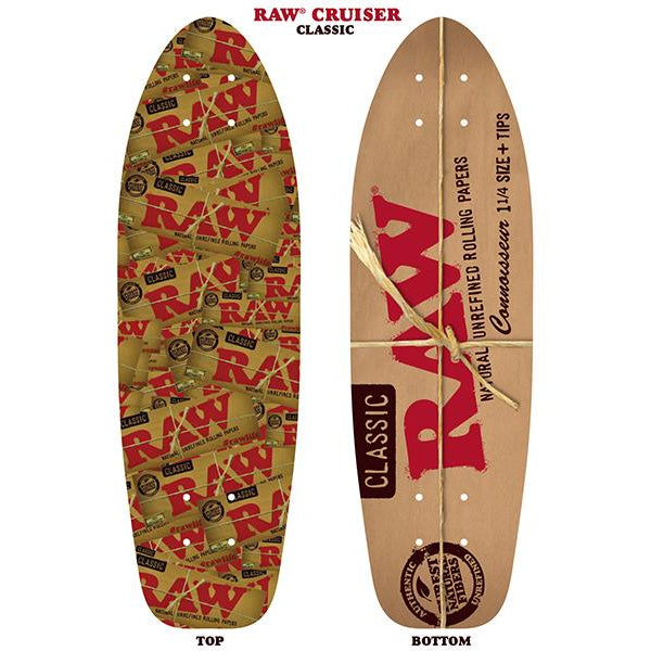 "RAW Skateboard -  D5 Cruiser -  7.5"" X 25"""