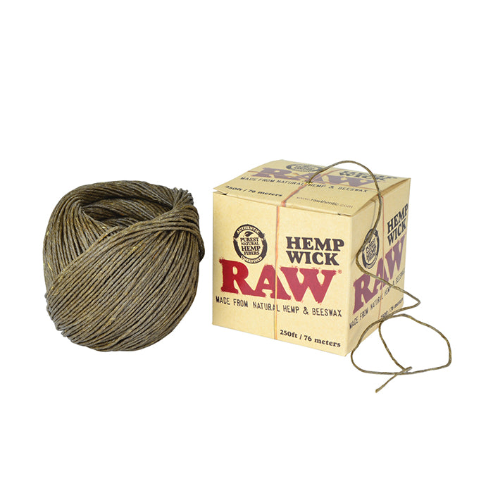 RAW Hemp Wick (76m, 250ft) Natural Unbleached Hemp & Beeswax