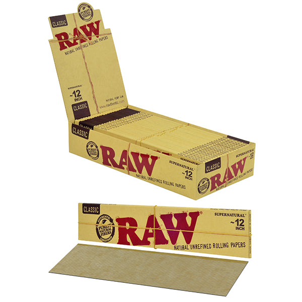 "RAW Supernatural 12"" Long Unbleached Rolling Papers"