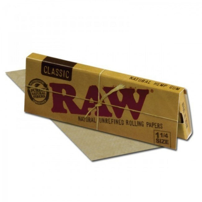 Raw Classic (1 1/4 size) Natural Rolling Papers