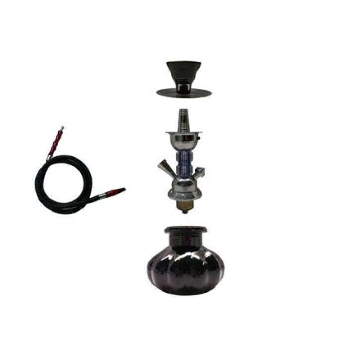 Hookah Pipe - with 1 Hose + Light Function + Aluminum Case (approx 250mm)