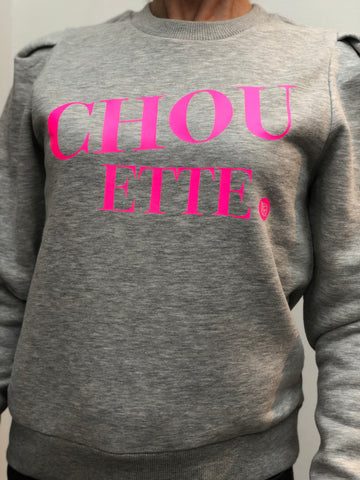 Grey Chouette pink fluo
